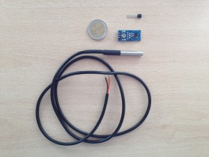 Sensores DS18B20: transistor suelto, en módulo y sumergible